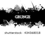 ink splash background.cracked... | Shutterstock .eps vector #434368018