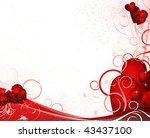 white valentines background... | Shutterstock .eps vector #43437100