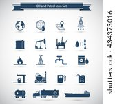 oil and petrol icon set | Shutterstock .eps vector #434373016