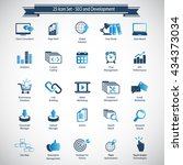 set of seo and development icons | Shutterstock .eps vector #434373034