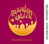 ramadan kareem background with... | Shutterstock .eps vector #434383786