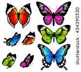 butterflies design | Shutterstock . vector #434390530