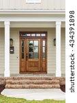 front door of traditional style ... | Shutterstock . vector #434391898