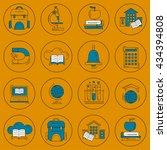 school and education vector... | Shutterstock .eps vector #434394808