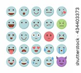 emoticon emoji set icon design... | Shutterstock .eps vector #434403373