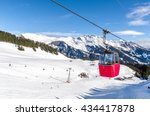Ski Slope In Swiss Alps In...