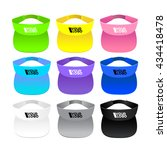colorful visor on white... | Shutterstock .eps vector #434418478