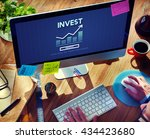 invest investment financial... | Shutterstock . vector #434423680