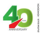 celebrating 40 anniversary... | Shutterstock .eps vector #434430454