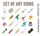 creative tools icon set | Shutterstock .eps vector #434432710