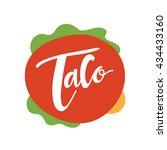 taco logo  mexican food logo... | Shutterstock .eps vector #434433160