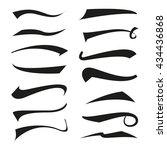 vintage type tail set ... | Shutterstock .eps vector #434436868