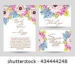 romantic invitation. wedding ... | Shutterstock .eps vector #434444248