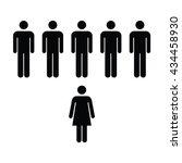 people icon   men   woman vector | Shutterstock .eps vector #434458930