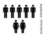 people icon   men   women vector | Shutterstock .eps vector #434458948