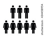 people icon   men   women vector | Shutterstock .eps vector #434458954