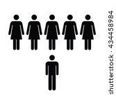 people icon   women   man vector | Shutterstock .eps vector #434458984