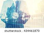 double exposure of success... | Shutterstock . vector #434461870