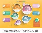 seo development info graphic... | Shutterstock .eps vector #434467210