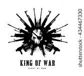 king of war logo skull and gun  ...   Shutterstock .eps vector #434467330