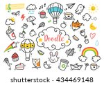 set of cute hand drawn doodle | Shutterstock .eps vector #434469148