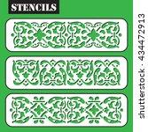 stencil. vector set vintage... | Shutterstock .eps vector #434472913