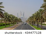 dubai  uae   may 14  2016  road ... | Shutterstock . vector #434477128