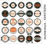 retro vintage quality badges... | Shutterstock .eps vector #434478394