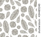 vintage seamless pattern with... | Shutterstock .eps vector #434485240