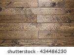rustic dark wooden floor board... | Shutterstock . vector #434486230