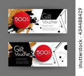 vector gift voucher with... | Shutterstock .eps vector #434488429