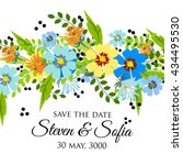 invitation or wedding card with ... | Shutterstock .eps vector #434495530
