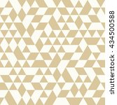 geometric pattern with white... | Shutterstock . vector #434500588