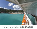 cruise line ship side with... | Shutterstock . vector #434506204