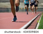 athletics people running on the ... | Shutterstock . vector #434509804
