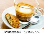 macchiato coffee in the small... | Shutterstock . vector #434510773