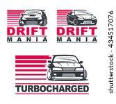 set of four sport cars logo ... | Shutterstock .eps vector #434517076