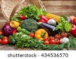fresh vegetables | Shutterstock . vector #434536570