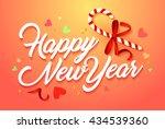 happy new year vector card.... | Shutterstock .eps vector #434539360