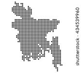dotted map   bangladesh | Shutterstock .eps vector #434539960