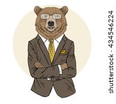 Brown Bear Dressed Up In Offic...