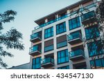 luxury apartment house with... | Shutterstock . vector #434547130