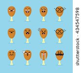 smile emoji emoticon face in... | Shutterstock .eps vector #434547598