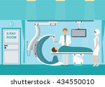 doctor and patient at operating ... | Shutterstock .eps vector #434550010