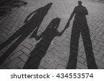 shadows of people | Shutterstock . vector #434553574
