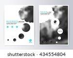 cover design blue. template... | Shutterstock .eps vector #434554804