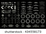 wicker lines and decor elements ... | Shutterstock .eps vector #434558173