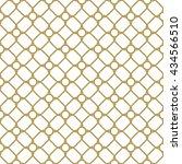 geometric golden grid. seamless ... | Shutterstock . vector #434566510
