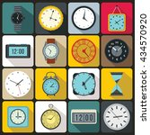 vintage time and clock icons...
