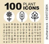 garden and plant icons. natural ... | Shutterstock .eps vector #434572804